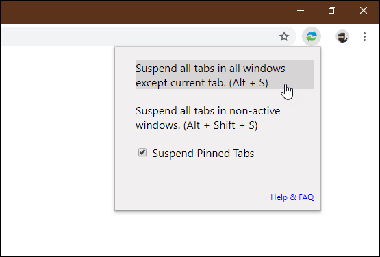 tab suspender extension chrome firefox